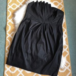 torrid black strapless dress size 22